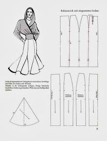Skirt with godets 2 Pattern Making Books, Dress Making Patterns, Skirt Patterns Sewing, Barbie Patterns, Pattern Books, Clothing Patterns, Sewing Patterns Free, Circle Skirt Tutorial, Sewing School