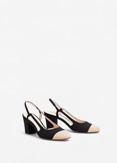 Slingback two-couloured shoes