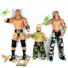 3x WWE Wrestling DX GENERATION HHH Triple H Shawn Michaels HBK Action Figure Toy