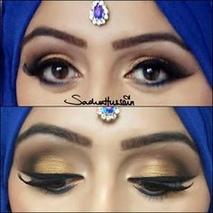 Makeup by sadaf wassan Beautiful Eye Makeup, Beautiful Eyes, Eye Makeup Steps, Makeup Step By Step, Step By Step Instructions, Hair Styles, Gorgeous Eyes, Pretty Eyes, Hair Makeup
