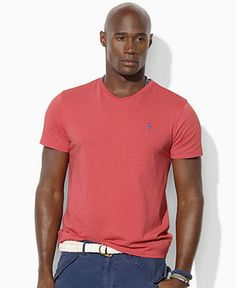 Polo Ralph Lauren Big and Tall T-Shirt, Classic-Fit Short-Sleeved Cotton V-Neck T-Shirt - Polos - Men - Macy's