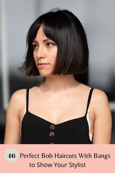 Visit our website to see our gallery of fabulous bob hairstyles with bangs! Photo credit: Instagram @brianaguilarhair #bobhairstyleswithbangs #bobwithbangs Cute Bob Haircuts, Bob Haircut With Bangs, Bob Hairstyles With Bangs, Latest Hairstyles, Cool Hairstyles, Fluffy Hair, Mermaid Hair, Textured Hair, Face Shapes