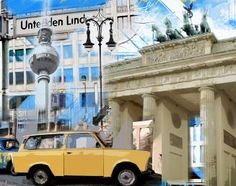 Unter den Linden. Berlin. Fotocollage.