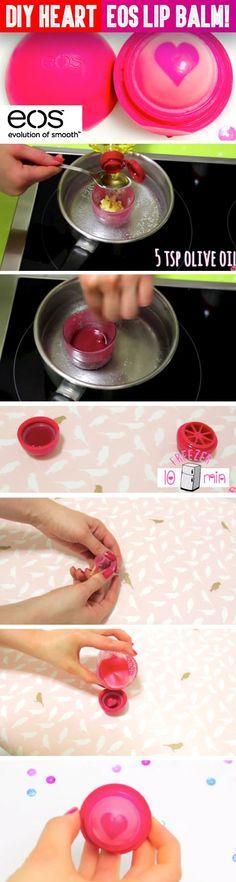 Überrasch dich mit einem wunderbaren DIY EOS Lipbalm mit Herz