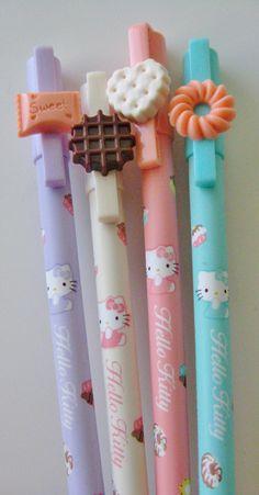 Material Escolar Canetas Hello Kitty