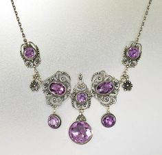 Hey, I found this really awesome Etsy listing at https://www.etsy.com/listing/460757470/antique-silver-amethyst-necklace