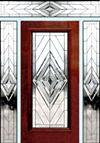 D100N leaded glass beveled entry