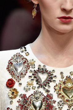 Dolce & Gabbana 2015 (milagros & ex-votos on dresses!)