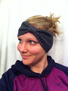 Hand Knit Headband Turban Headband Charcoal Gray by JesRoy on Etsy, $12.00