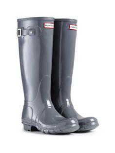 Original Tall Gloss Rain Boots | Hunter Boot Ltd in GRAPHITE