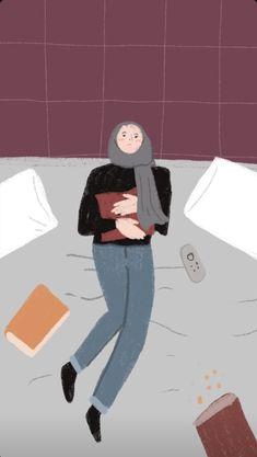 Wallpaper Wa, Cute Couple Wallpaper, Iphone Wallpaper, Islamic Cartoon, Religion Quotes, Hijab Cartoon, Cartoon Wall, Digital Art Girl, Girl Hijab