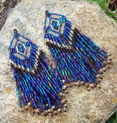 Beautiful beaded earrings.