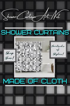 Drastically enhance your bathroom decor with a soft & stylish fabric shower curtain from Shower Curtain Art. Shower Curtain Art, Modern Shower Curtains, Fabric Shower Curtains, Bathroom Shower Curtains, Bathroom Fixtures, Man Cave Bathroom, Downstairs Bathroom, Master Bathroom, Modern Bathroom Design