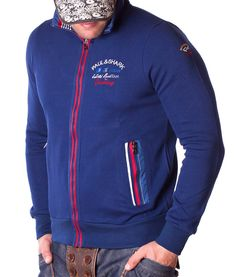 Paul & Shark Sudaderas con Cremallera - Ocean Official Yachting Team Sudadera Azul