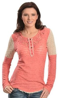 Miss Me Embroidered Two Tone Button Henley, Dusty Pink, Small Henleys, Henley Shirts, Dusty Pink, Refashion, Long Sleeve Shirts, Knitting, Sweaters, Button, Clothes