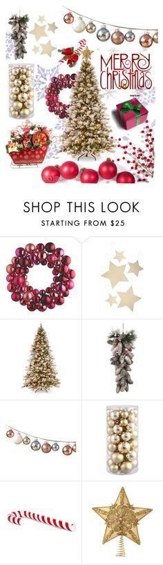 """""""Billated Merry Christmas"""" by ralisravya ❤ liked on Polyvore featuring interior, interiors, interior design, home, home decor, interior decorating, Bethany Lowe, DwellStudio and H&M"""