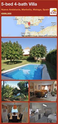 5-bed 4-bath Villa in Nueva Andalucía, Marbella, Malaga, Spain ►€699,000 #PropertyForSaleInSpain