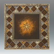 Tizo Super Nova Jeweltone Square Coaster - Brown