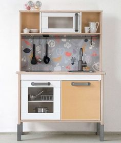 6 ways to customize the Ikea Duktig kitchen for kids Furniture, Kitchen Models, Ikea Childrens Kitchen, Kids Furniture, Ikea, Ikea Kids Kitchen, Childrens Kitchens, Red Furniture, Ikea Kitchen