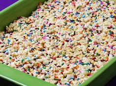 Cake Batter Rice Krispie Treats @Alessandra Smith- I just made these. Some will be at the store for you!