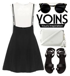 """""""Yoins"""" by yesanastasia1919 ❤ liked on Polyvore featuring Finders Keepers, H&M, Kate Spade, yoins and loveyoins"""