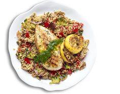 Quinoa met gegrilde kip
