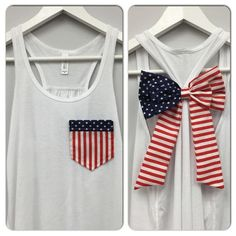 Red White and Blue DIY Shirts - Sugar Bee Crafts