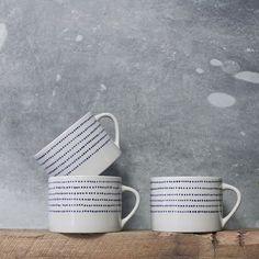 Bria Ceramic Mug - Indigo Stylish Kitchen, Ceramic Mugs, Mug Designs, Kitchen Dining, Indigo, Artisan, Ceramics, Tableware, Handmade