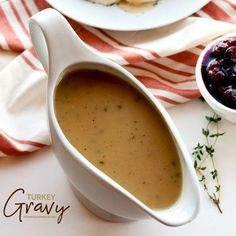 No Thanksgiving is complete without delicious, homemade Turkey Gravy. This recipe includes instructions to make turkey gravy with or without pan drippings.