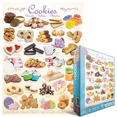 Cookies - 1000 piece jigsaw puzzle. Finished size: 19.25