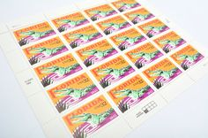 Florida Alligator Postage Stamps! - 32 cents - Vintage from 1995 - Unused - Quantity of 20
