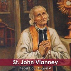 """Prayer is the inner bath of love into which the soul plunges itself."" -St. John Vianney   Join the @cathapostlectr as we commemorate St. #JohnVianney today, patron of priests!   #saint #FeastDay #Catholic"