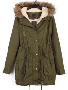 Types :Parka  Color :Green  Collar :Hooded  Style :Casual  Placket :Zipper  Length :Short  Season :Autumn  Bust(cm) :S:118cm,M:122cm,L:126cm  Sleeve Length(cm) :S:58.5cm,M:59.5cm,L:60.5cm  Length(cm) :S:78cm,M:79cm,L:80cm  Size available :S,M,L  Shoulder(cm) :S:45cm M:46cm L...