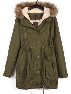 Green Hooded Coat//