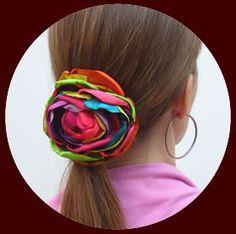 GORGEOUS multicolor hair flower from Lunares Flamenco