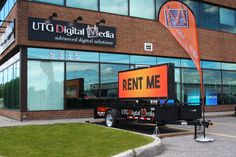 Contact UTG Digital Media to rent this brilliant P10 mobile digital display for your next event! 613.695.5550 #mobile #digital #signage #doublesided #outdoor #display #trailer #text #image #video #ultimate #event #wedding #conference #tradeshow #expo #festival #rental #UTGDigitalMedia