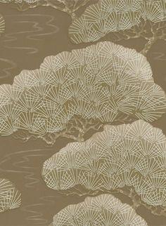 Tapete Pines von Little Greene - Golden Pine