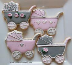 Christy's Savories: Pink & Grey Baby Cookies