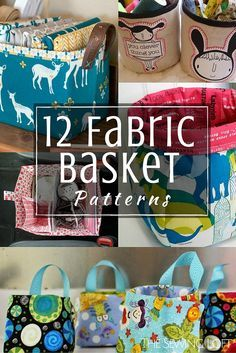 Fabric Basket Patterns - The Sewing Loft