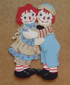 Raggedy Ann & Andy paper dolls made by me...