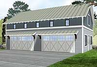4 Car Garage with Indoor Basketball Court