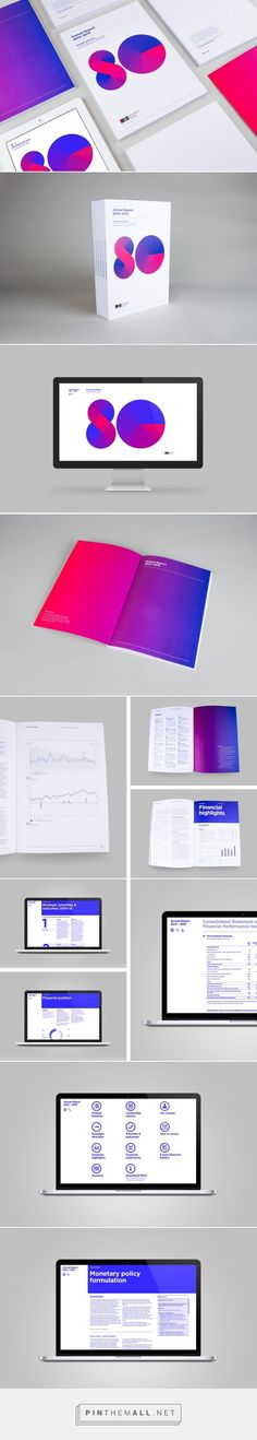 A not so reserved annual report | RBNZ on Behance... - a grouped images picture…