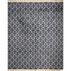 Fine Moroccan Hamza Blue Wool Rug (10'0 x 14'0) - Free Shipping Today - Overstock.com - 19394611 - Mobile