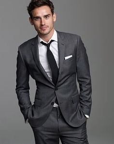 Charcoal grey tailored suit - this should be the first suit in ...