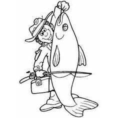 Huge Fish coloring page