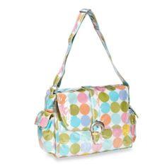 Kalencom Laminated Single Buckle Diaper Bag in Disco Dots Cream - BedBathandBeyond.com