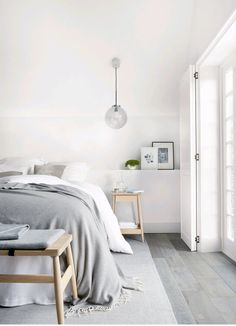 The neutral, layered feel of the house is echoed in this room. #livingetcind #homeprofile #lizhoughton #labelmintvelvet #modernhome #luxurydecor #luxuryhomedesign #luxefactor #luxury #interiors #interiordesigns #masterbedroom #bedroomdesign #bedrooms