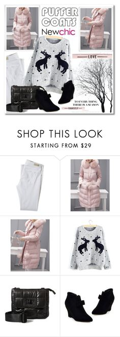 """""""Puffer Coats #newchic"""" by cool-cute on Polyvore featuring moda, AG Adriano Goldschmied, Steve Madden, StreetStyle, stylish, casualoutfit, newchic y puffercoats"""