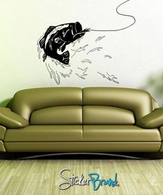 Vinyl Wall Decal Bass Fishing GFoster101 by Stickerbrand on Etsy, $34.95
