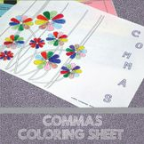 Commas Coloring Sheet